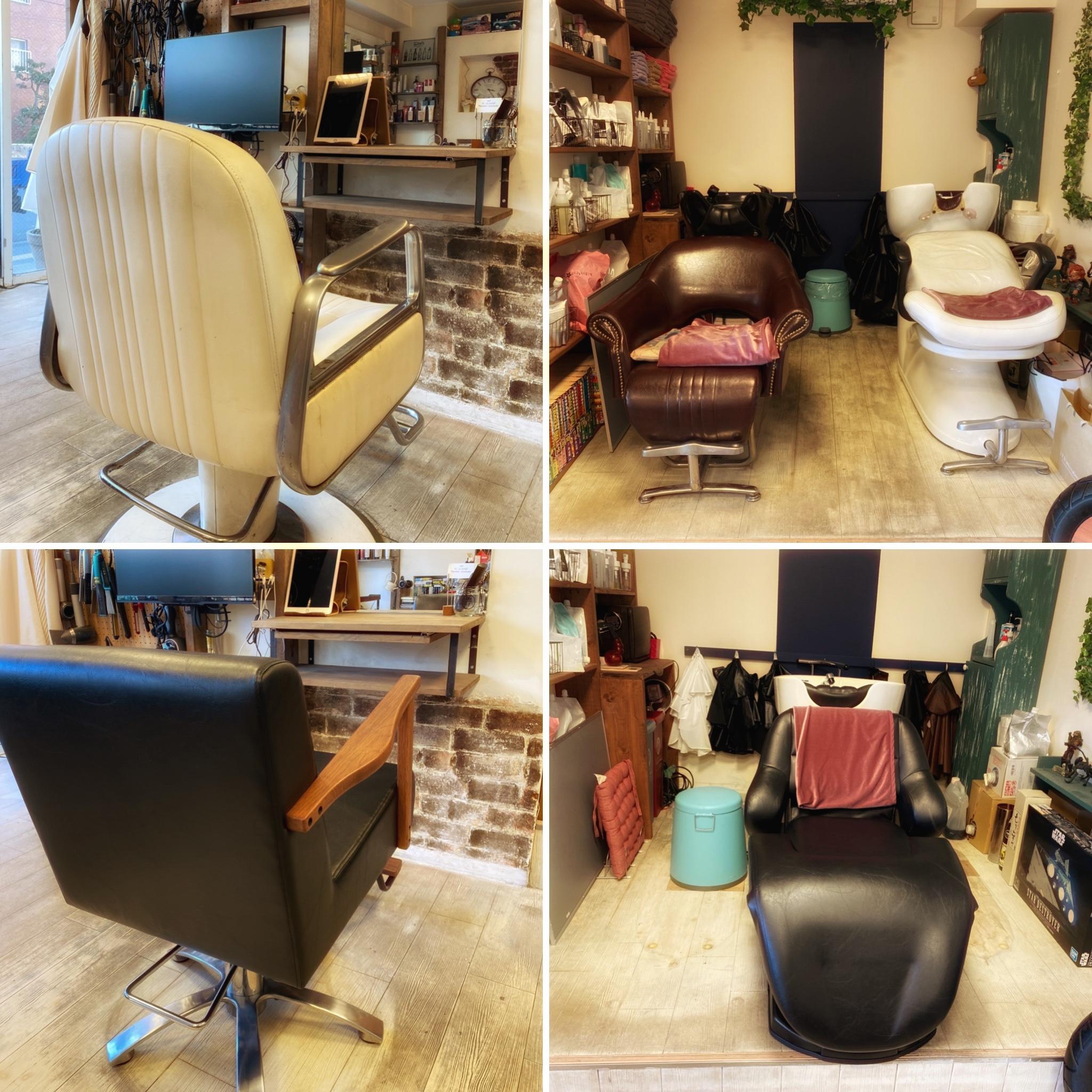 シャンプー台とセット椅子