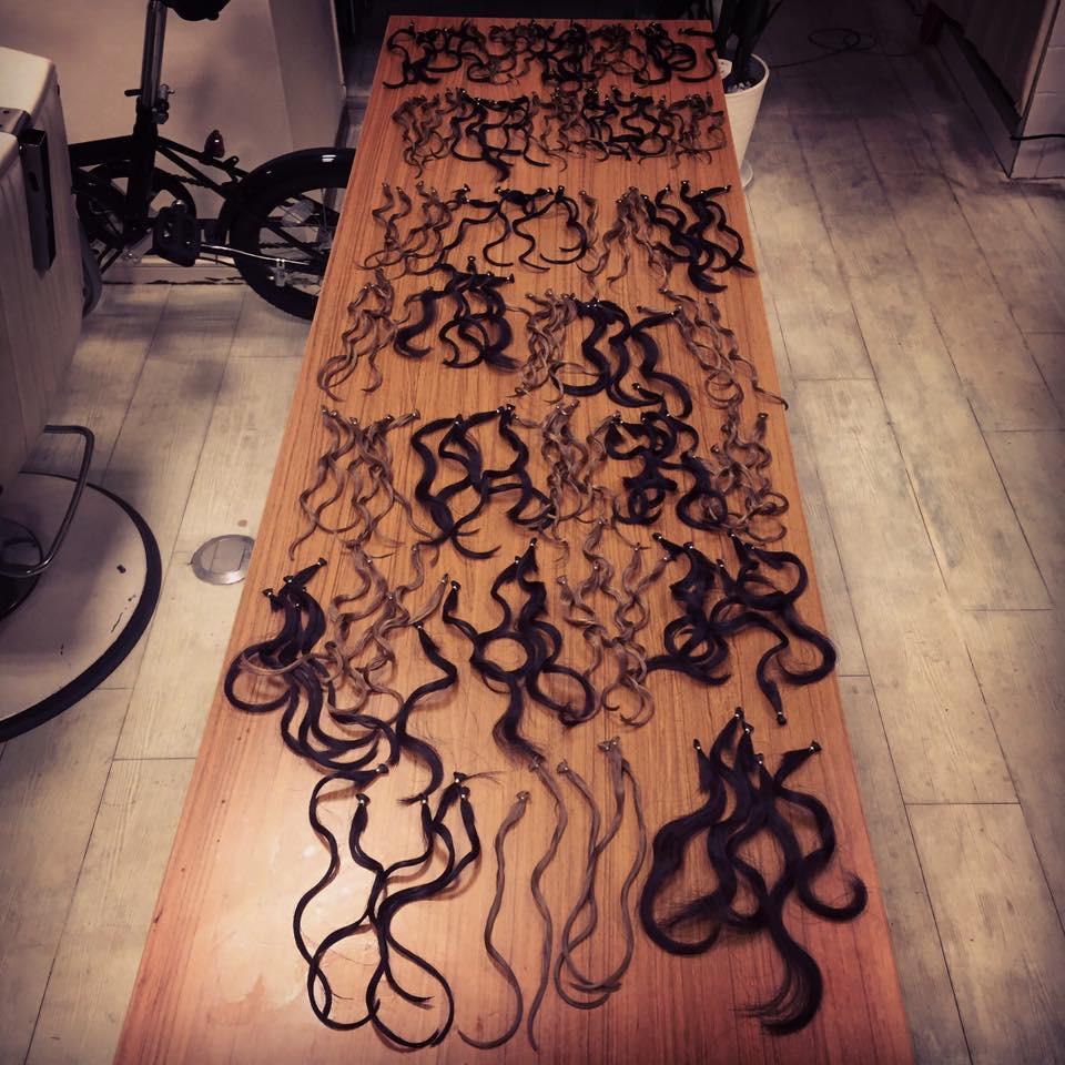 パーマ毛束実験